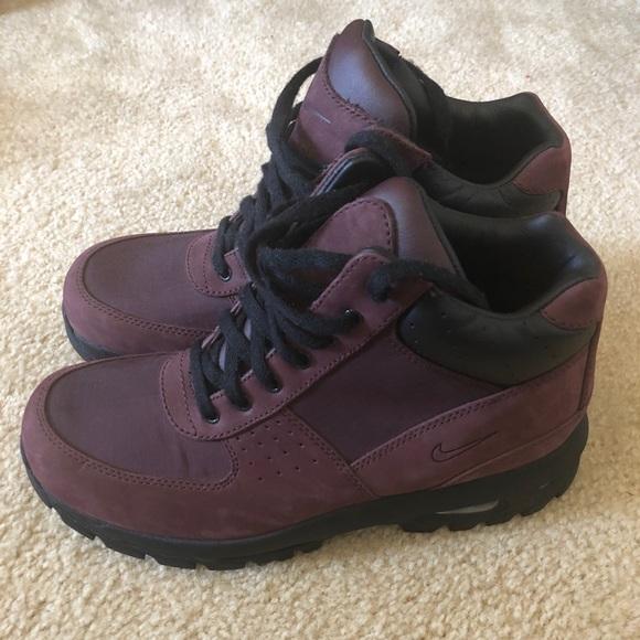 c476f8bd8143 Nike ACG Burgundy Suede Boots. M 5a99897e8af1c501c7c88c10